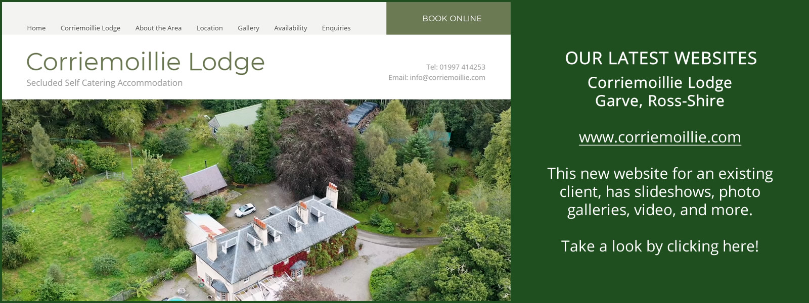 Click Here to Visit Corriemoillie Lodge